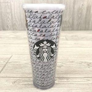 NWT 2011 falalala Starbucks tumbler ( no straw )